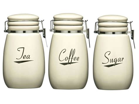 kitchen canisters glass canister sets for coffee bed bath beyond details about cream coronet kitchen ceramic storage