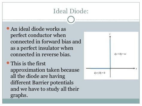 ideal diode approximation diode theory
