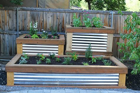 Dining Room Chairs San Antonio by Corrugated Raised Garden Bed Plans Gardening Flower And