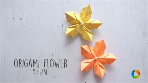 Origami 8 Petal Flower - origami on how to make an origami flower hollow