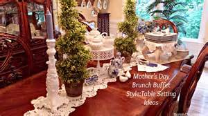 Setting Buffet Table Ideas S Day Brunch Buffet Style Table Setting Ideas