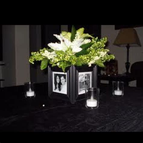 picture frame centerpiece wedding