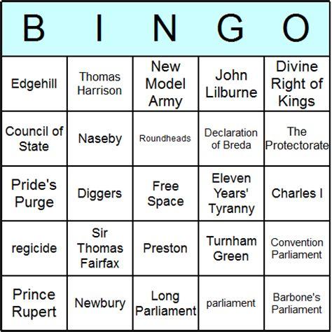 esl bingo card template civil war bingo cards printable bingo activity
