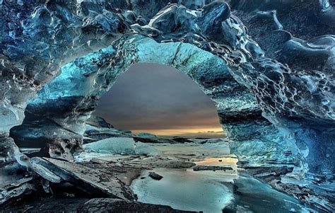 crystal cave iceland crystal ice cave iceland