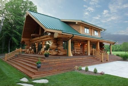Cabin House Plans Covered Porch by Chalet En Fuste Chalet En Rondin Chalet En Bois Maison En