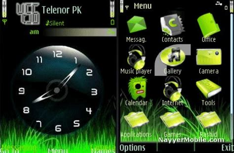 themes of moving clock for nokia 5230 ovi clock real mobile theme for nokia c5 nayyer mobile