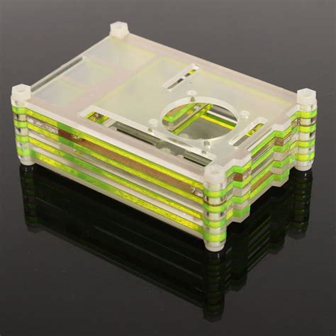 Colorful Arcylic For Raspberry Pi 2 Model B Pcba Promo colorful acrylic shell with a fan for raspberry pi 2 model b
