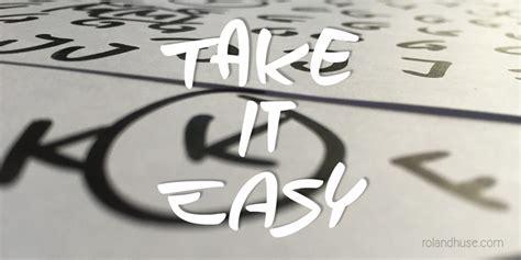 Take It Easy take it easy font dafont