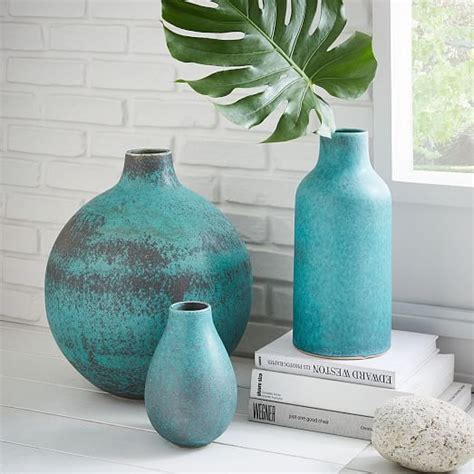 rustic ceramic vases everything turquoise