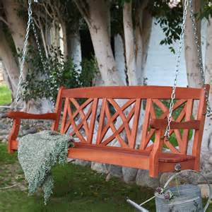 Porch Swing With Cushion Coral Coast Magnolia 5 Ft Porch Swing With Optional