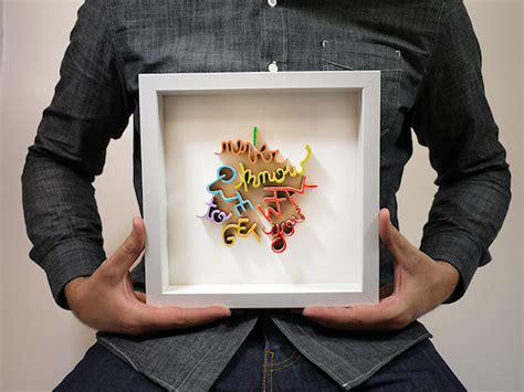 Unique Handmade Gifts For Him - handmade framed typographic pieces that make unique gifts