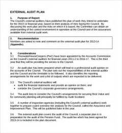 Audit Plan Template by Sle Audit Plan 7 Documents In Word Pdf