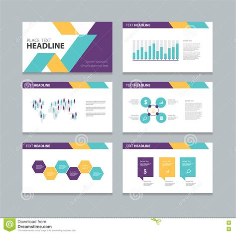 design elements when creating slides page presentation layout design template stock vector