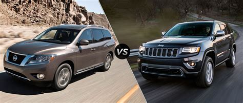 nissan jeep 2014 2014 nissan pathfinder vs 2014 jeep grand