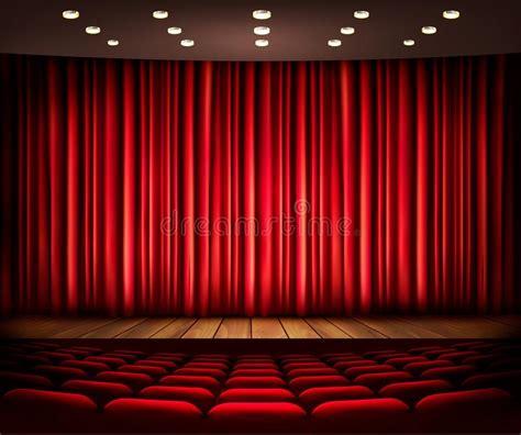 kino vorhang kino oder theaterszene mit einem vorhang stockbild bild