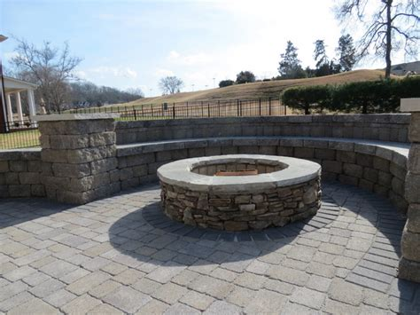 fireplaces and firepits traditional patio nashville