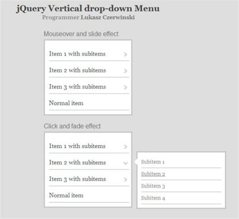 jquery layout with menu 25 free and premium jquery menu scripts vandelay design