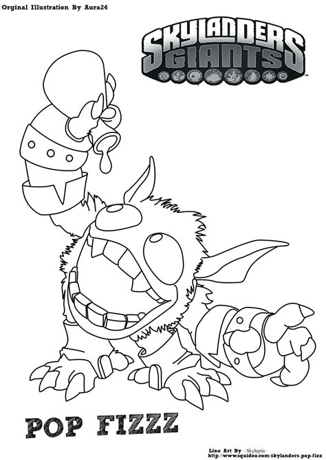 free coloring pages of g skylander