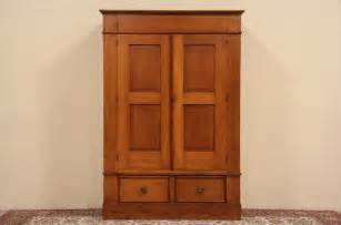 Armoire Wardrobe by Country Pine 1890 Antique Armoire Or Wardrobe Closet