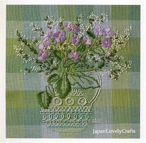embroidered garden flowers botanical motifs for needle and thread make crafts books embroidery of garden flowers embroidery by
