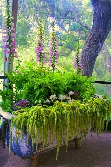 Beautiful Planters by Beautiful Garden Using A Bathtub Planter
