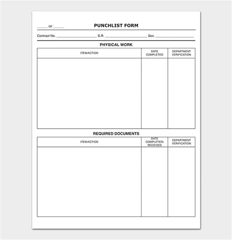 Punch List Template 14 Word Excel Pdf Format Punch List Template