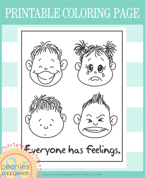 printable coloring pages emotions everyone has feelings free coloring page rubber clear
