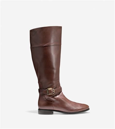 extended calf boots lyst cole haan catskills boot extended calf in brown