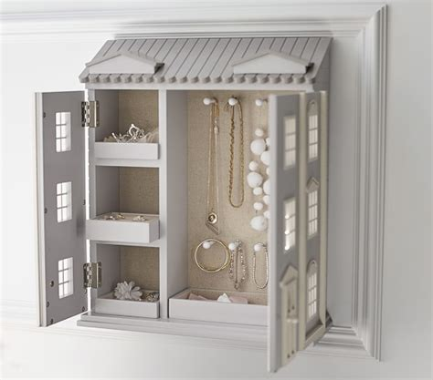 doll house cabinet dollhouse jewelry cabinet pottery barn kids