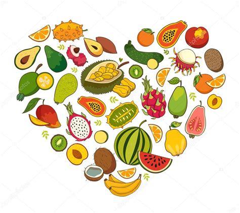imagenes de corazones saludables coraz 243 n en forma de alimentos saludables vector de stock