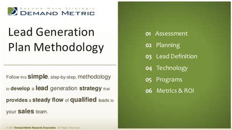 lead generation plan template lead generation plan methodology