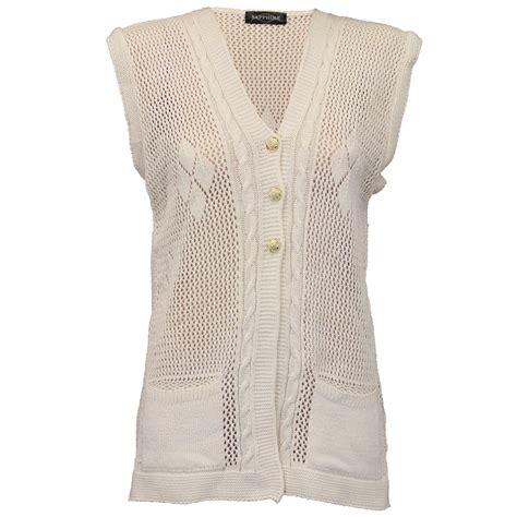 knitted gilet womens cardigans womens gilet knitted crochet waistcoat