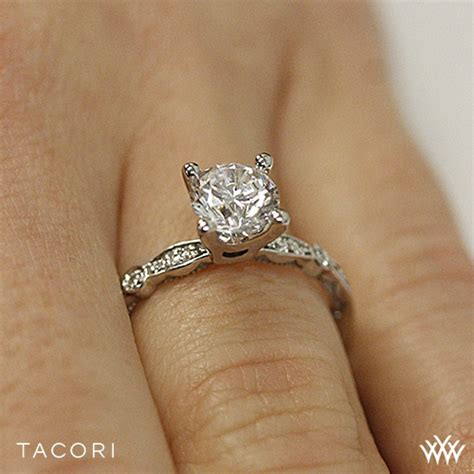 tacori 47 2 rd sculpted crescent petite diamond engagement