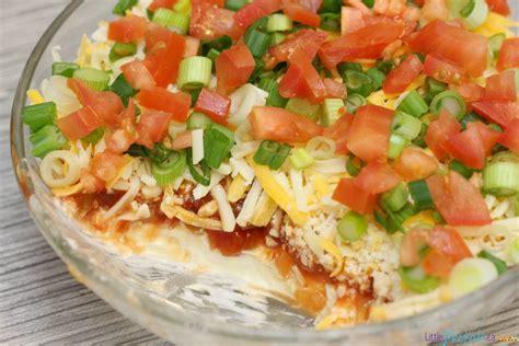 easy layered nacho dip recipe super bowl food ideas