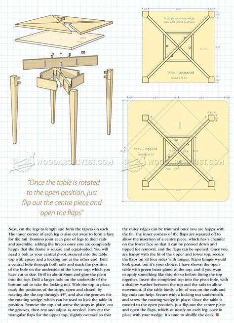 folding card table plans woodarchivist