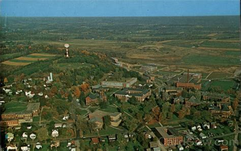 slipper rock aerial view of slippery rock state college