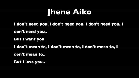 jhene aiko bed peace lyrics don t need you from jhene aiko s quot the worst quot youtube