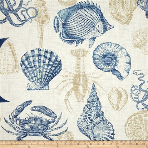 sea life upholstery fabric richloom solarium outdoor sealife marine discount