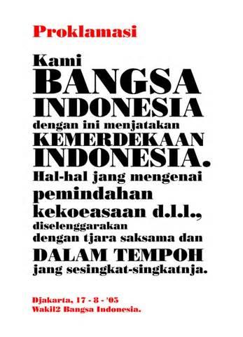 Teks Proklamasi Teks Proklamasi 1945 Amazing Indonesia