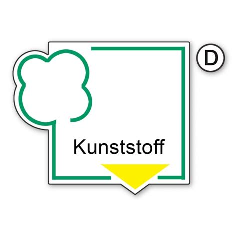 Kunststoff Aufkleber Bestellen by Recycling Schild Kunststoff Aufkleber Shop