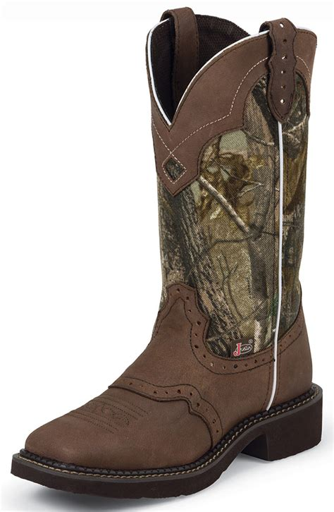 justin boots square toe justin womens square toe cowboy boots camo brown