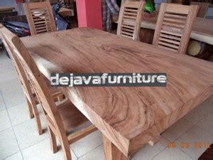 Hiasan Dinding Wood Solid meja makan minimalis antik solid wood 6 kursi jari jual