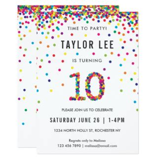 printable birthday invitations for 10 year old boy 10 years old invitations announcements zazzle ca