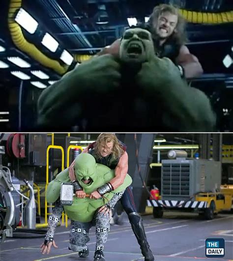 thor movie clips and behind the scenes footage collider 46 famous movie scenes before and after special effects