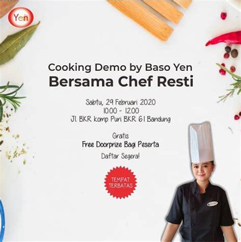 cooking demo  baso yen pelajari  memasak beragam