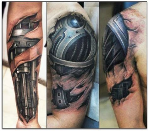 biomechanical tattoos for men 3d tattoos and designs page 3