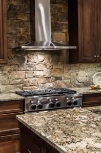 Stone Kitchen Backsplash Pictures by Stacked Stone Backsplash Kitchen Home Design Ideas
