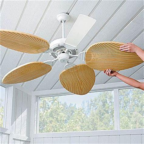 beachy looking ceiling fans palm leaf ceiling fan blades porch and lanai decir