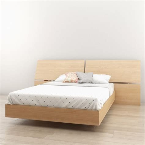 platform bed kit full platform bed with panoramic headboard in maple