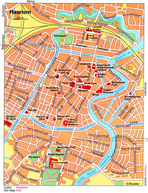 haarlem netherlands map 11 top tourist attractions in haarlem planetware